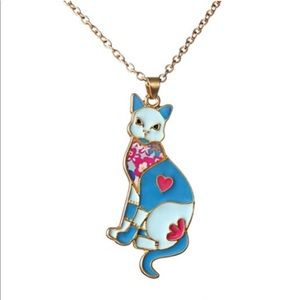 Other - 🍭2X HP EVERYTHING KIDS🍭Enamel cat necklace